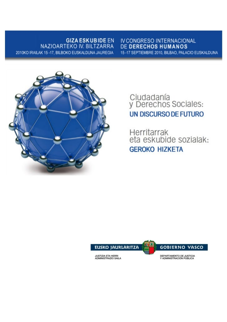 DOSSIER          IV CONGRESO INTERNACIONAL DE               DERECHOS HUMANOS        'Ciudadanía y Derechos Sociales: un   ...