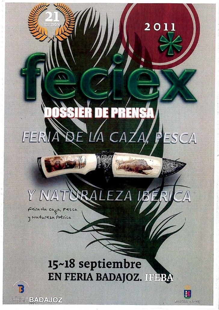 Dossier Prensa Feciex 2011
