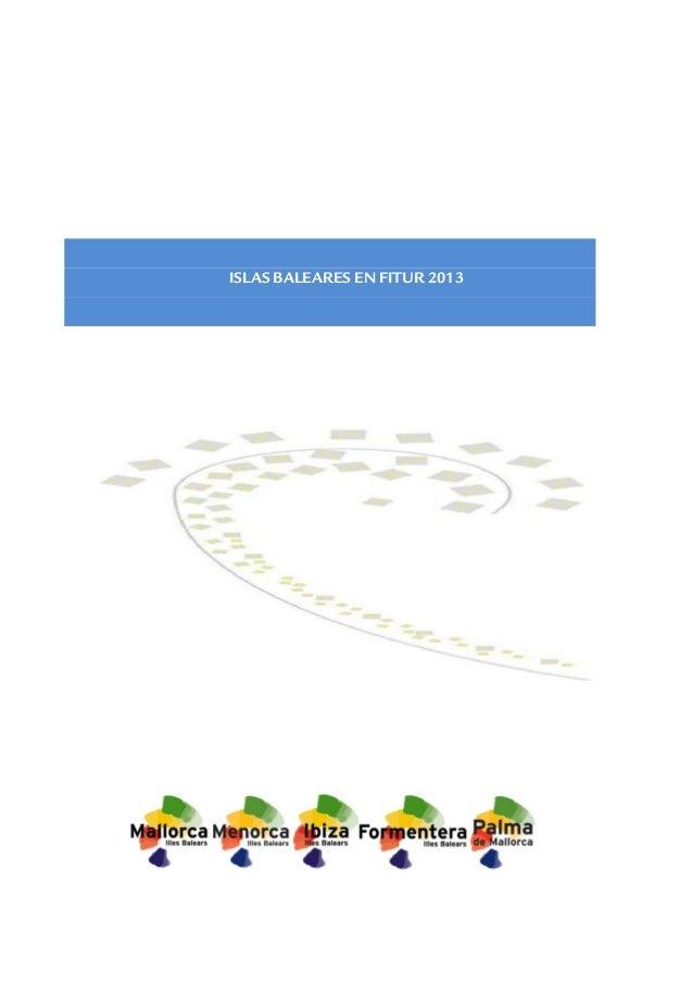 ISLAS BALEARES EN FITUR 2013