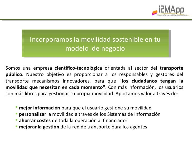 i2MApp - Dossier presentacion Slide 2