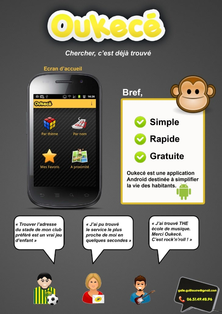 Dossier presentation Application Oukecé