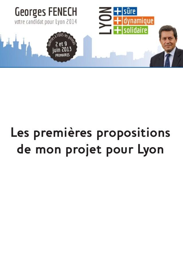Les premières propositionsde mon projet pour Lyon