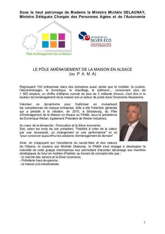1 Sous le haut patronage de Madame la Ministre Michèle DELAUNAY, Ministre Déléguée Chargée des Personnes Agées et de l'Aut...