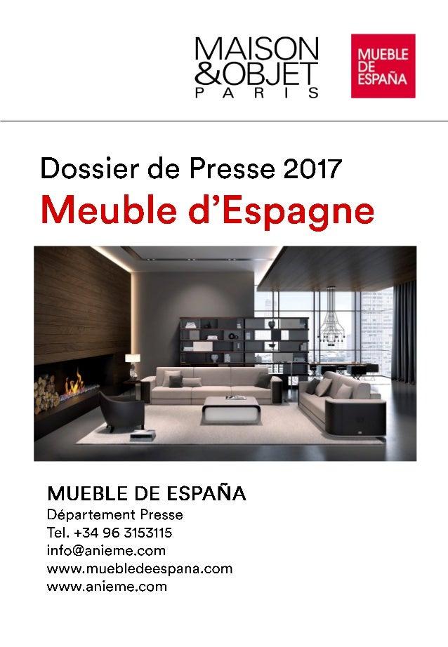 dossier presse: meuble d'espagne à maison & objet paris 2017 - Meuble Design Espagne