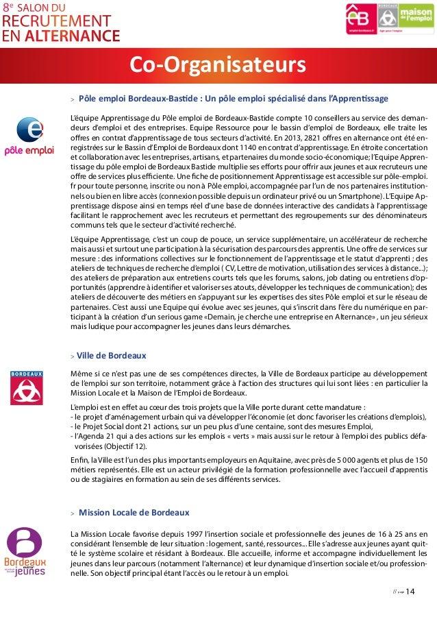 Dossier de presse salon recrutement alternance bordeaux 2015 for Salon de l apprentissage bordeaux