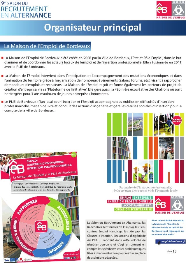 Dossier presse salon recrutement alternance bordeaux 2016 - Salon de l alternance bordeaux ...