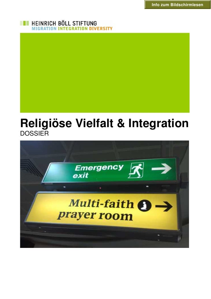 Info zum Bildschirmlesen     Religiöse Vielfalt & Integration DOSSIER