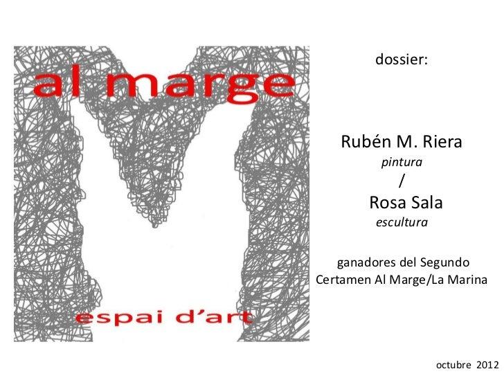 dossier:   Rubén M. Riera          pintura             /        Rosa Sala         escultura    ganadores del SegundoCertam...