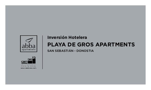 Inversión Hotelera PLAYA DE GROS APARTMENTS SAN SEBASTIÁN - DONOSTIA
