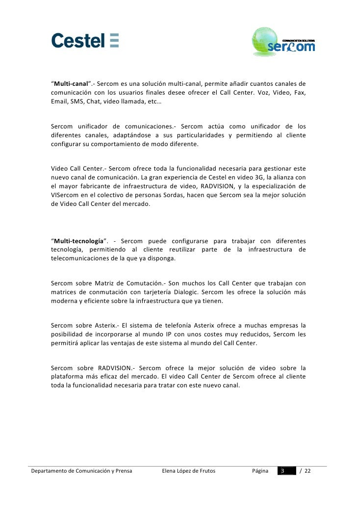 Dossier Prensa Sercom Slide 3