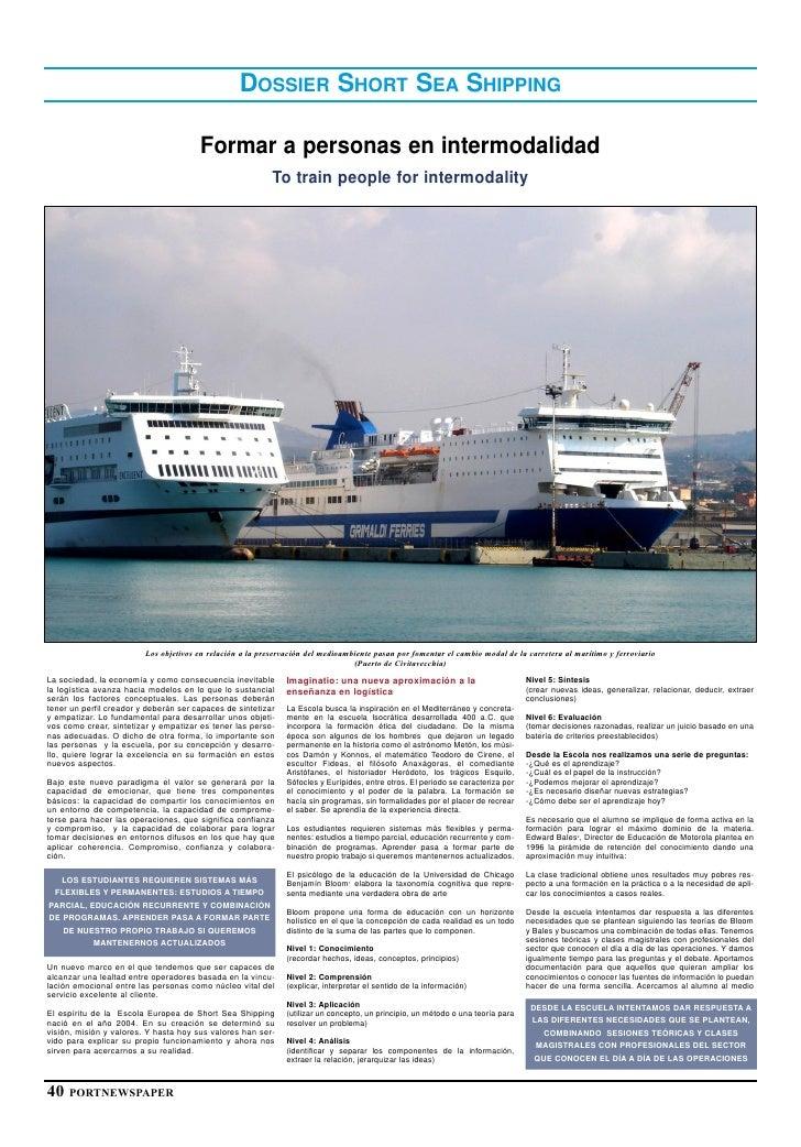 DOSSIER SHORT SEA SHIPPING                                         Formar a personas en intermodalidad                    ...