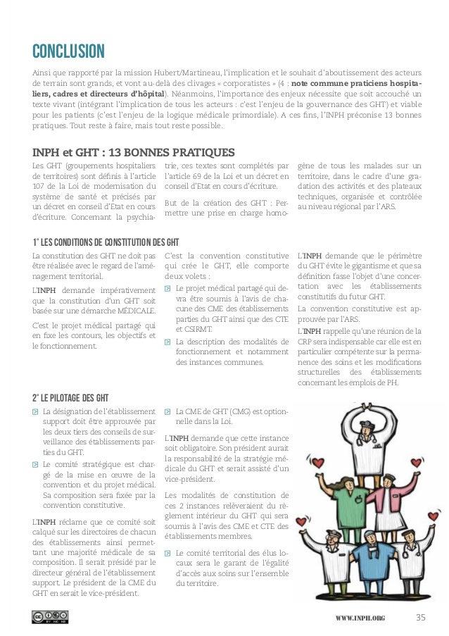 www.inph.org 35 Conclusion Ainsi que rapporté par la mission Hubert/Martineau, l'implication et le souhait d'aboutissement...