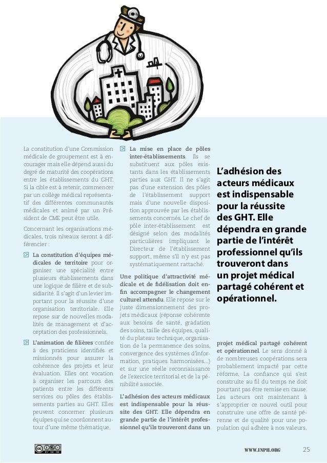 www.inph.org 25 La constitution d'une Commission médicale de groupement est à en- courager mais elle dépend aussi du degré...
