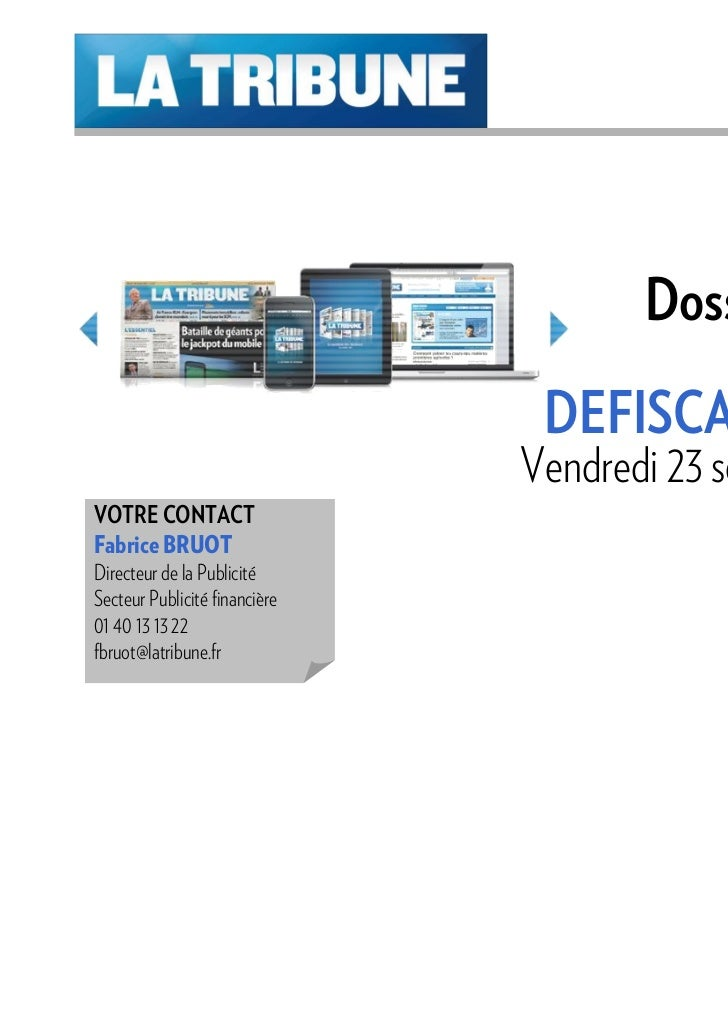 Dossier Spécial                                               ISF                                DEFISCALISATION          ...