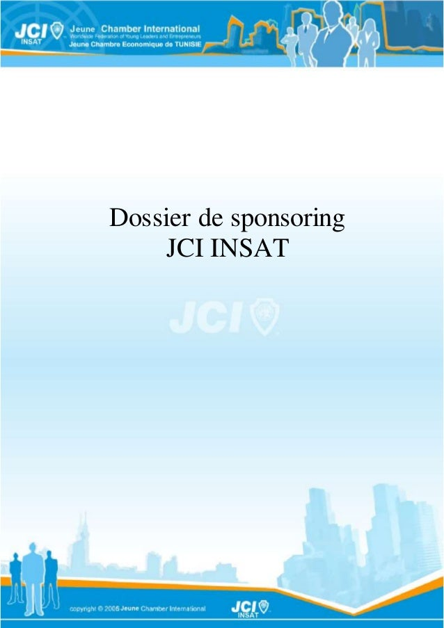 Dossier de sponsoring  JCI INSAT