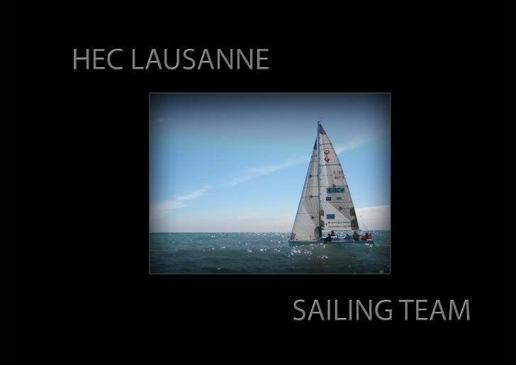 Dossier Sponsoring Hec Lausanne Sailing Team