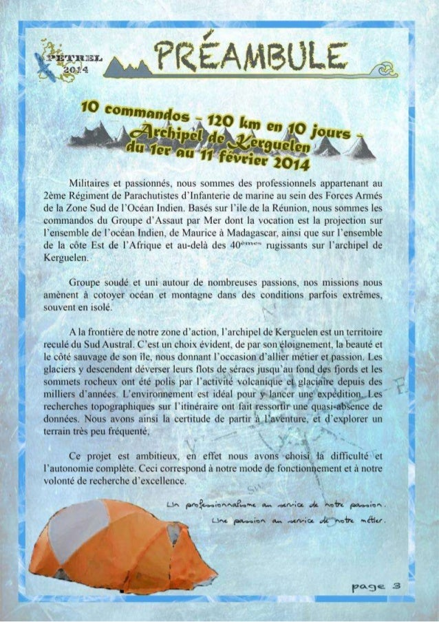 Dossier sponsoring petrel 2014