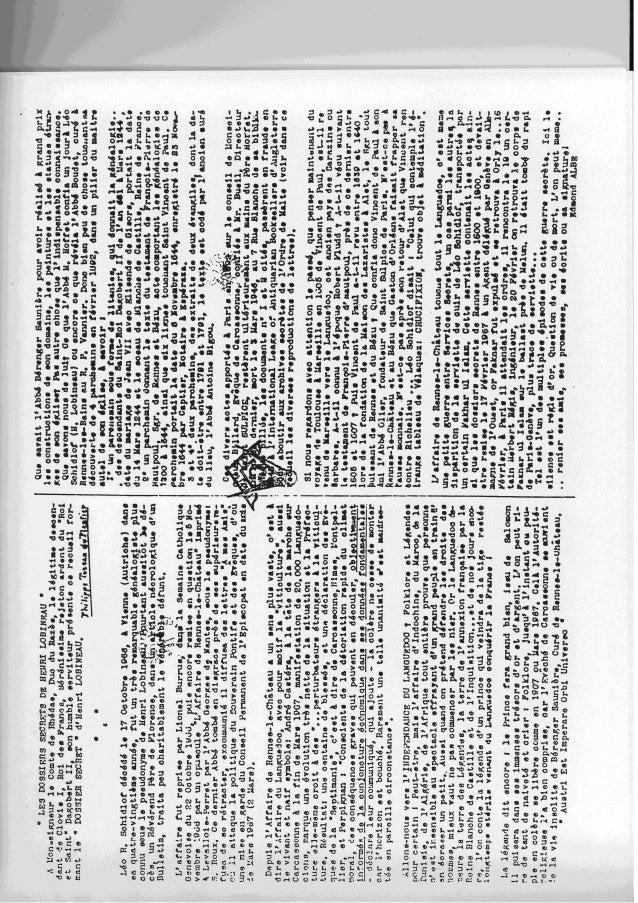 Dossiers secrets d'Henri Lobineau (4-LM1-249) Slide 3