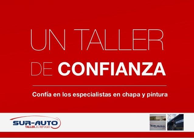 Confía en los especialistas en chapa y pintura SUR-AUTO TALLER. EL REFUGIO UN TALLER DE CONFIANZA