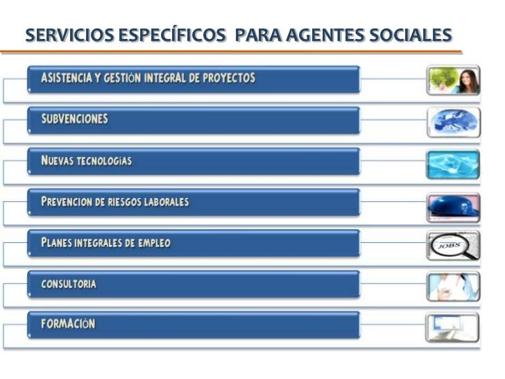 SERVICIOS ESPECÍFICOS  PARA AGENTES SOCIALES<br />