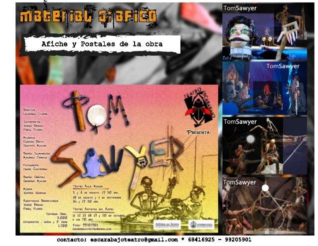 material grafico Afiche y Postales de la obra contacto: escarabajoteatro@gmail.com * 68416925 - 99205901