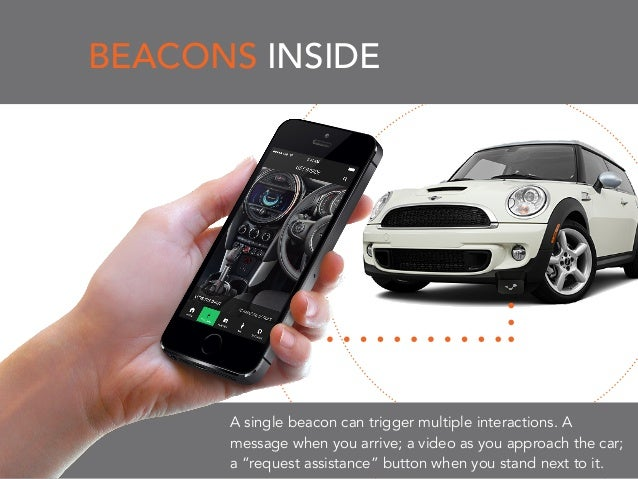 BEACONS INSIDE A single beacon can trigger multiple interactions. A message when you arrive; a video as you approach the c...