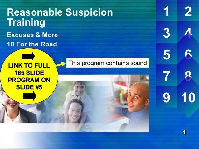 Reasonable Suspicion Training: DOT Reasonable Suspicion ...