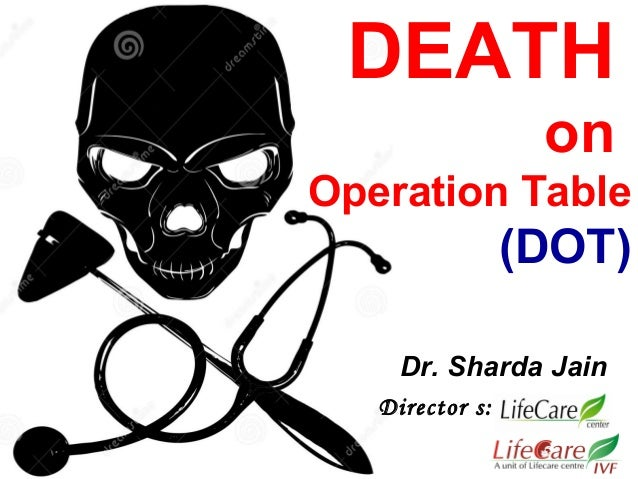 DEATH on Operation Table (DOT) Director s: Dr. Sharda Jain