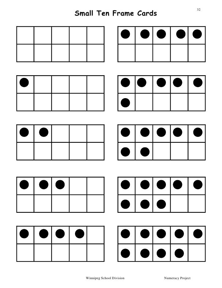 Dot Card Andtenframepackage2005 on Numbers 1 10 Printable Cards