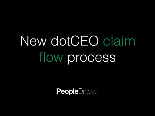 New dotCEO claim flow process