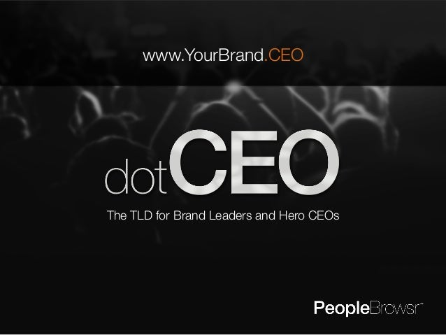www.YourBrand.CEO  The TLD for Brand Leaders and Hero CEOs
