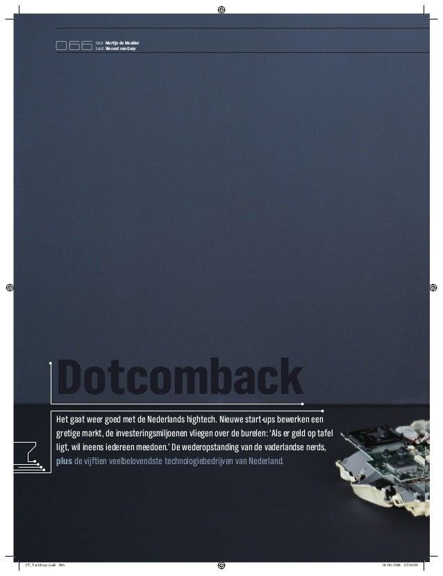 066         tekst Martijn de Meulder                           beeld Vincent van Gurp               Dotcomback            ...