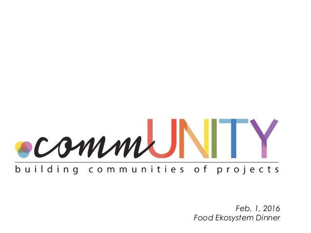 Feb. 1, 2016 Food Ekosystem Dinner