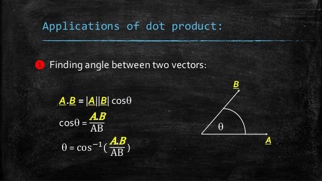 dot  u0026 cross product of vectors