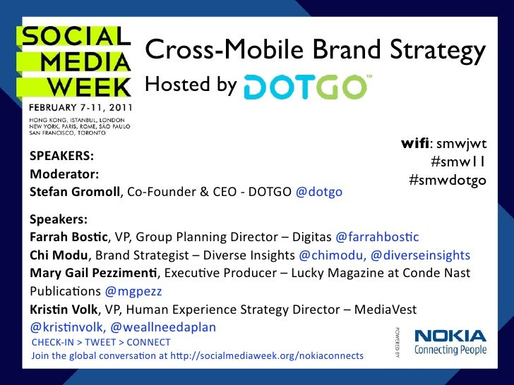 Cross-Mobile Brand Strategy                       Hosted by                                                               ...