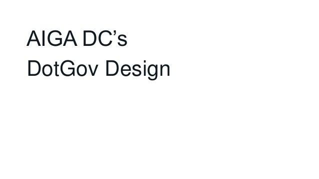 AIGA DC's DotGov Design