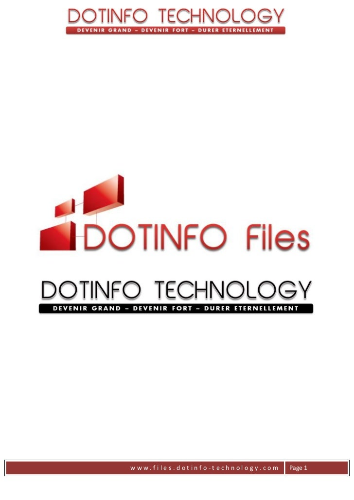 www.files.dotinfo-technology.com   Page 1