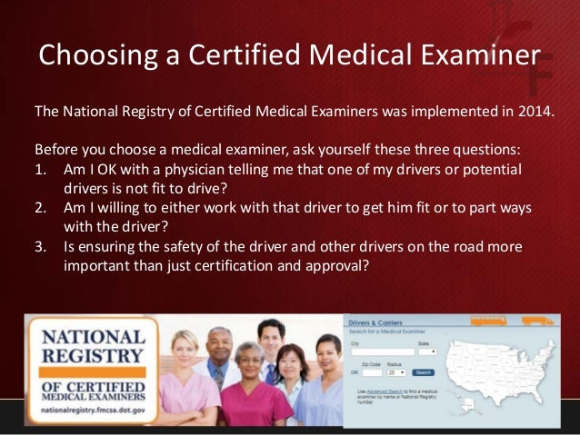 Webinar: DOT medical exam the process, disqualifications, red flags, …