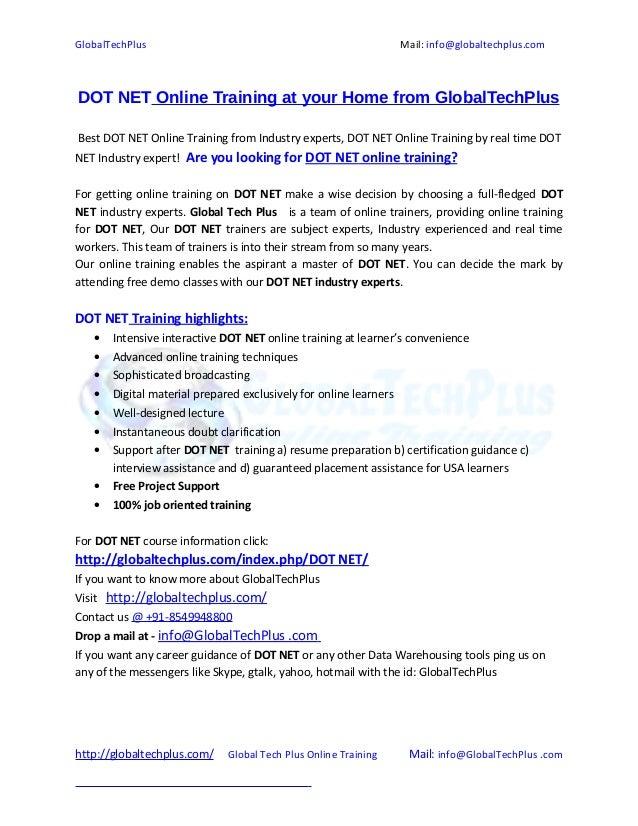 Dot net Online Training