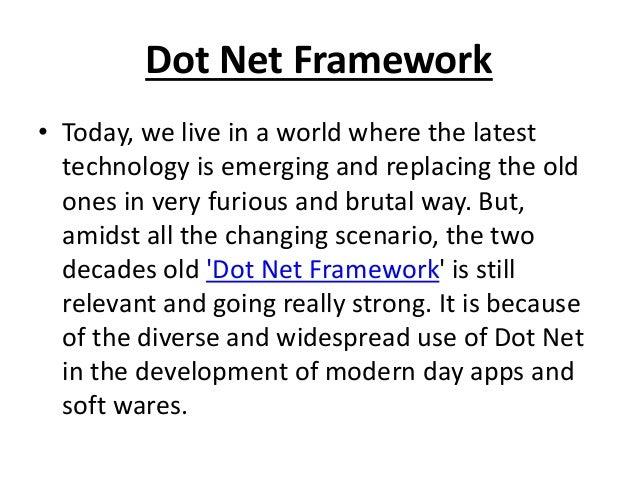Why Learn Dot Net Programming Framework? Slide 2
