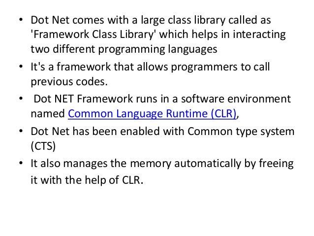 Why Learn Dot Net Programming Framework? Slide 3