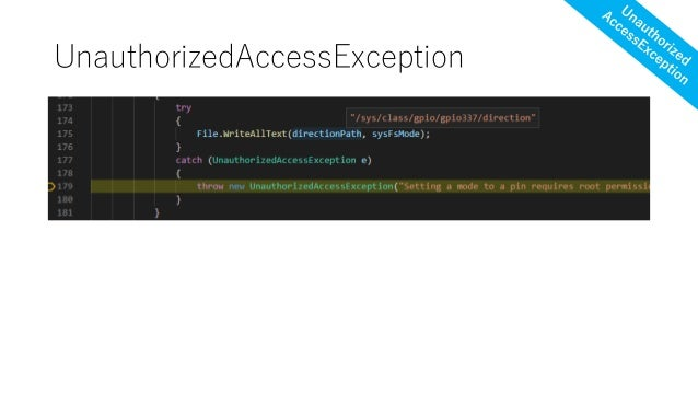 UnauthorizedAccessException