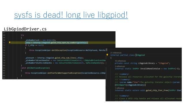 sysfs is dead! long live libgpiod! LibGpiodDriver.cs
