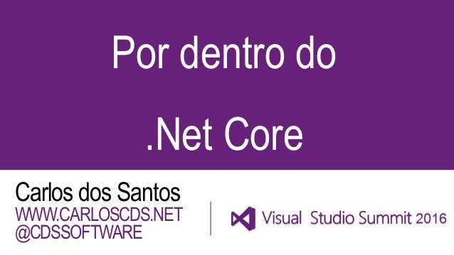 Por dentro do .Net Core Carlos dos Santos WWW.CARLOSCDS.NET @CDSSOFTWARE