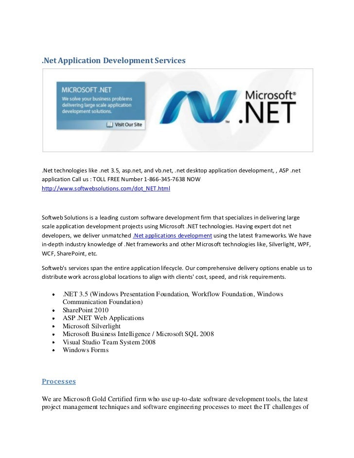 Dot Net Development At Softweb Solutions