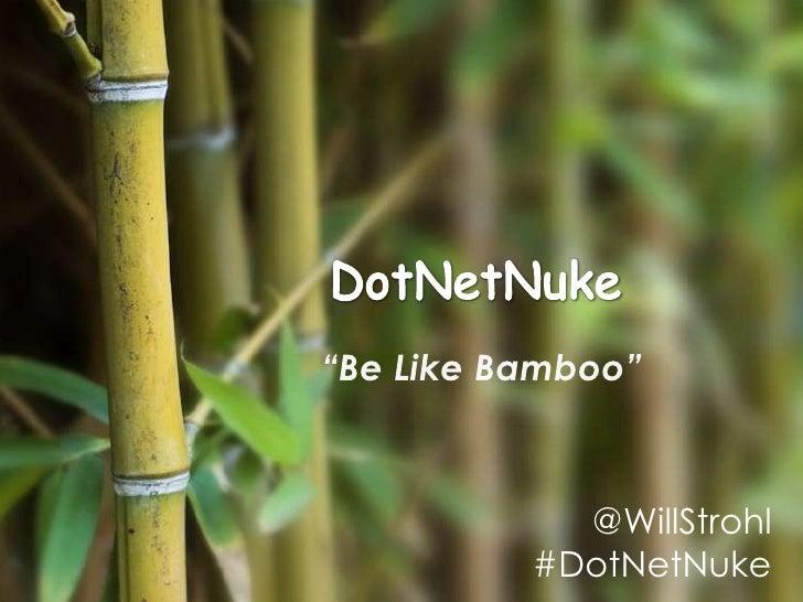 @WillStrohl#DotNetNuke