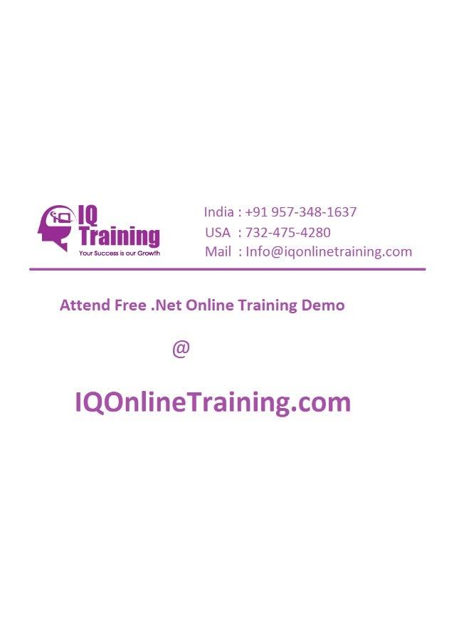 Dot net online training in hyderabad india usa uk singapore australia