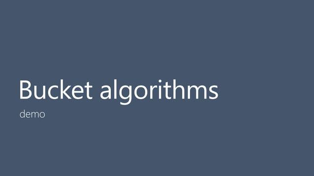 27 Bucket algorithms demo