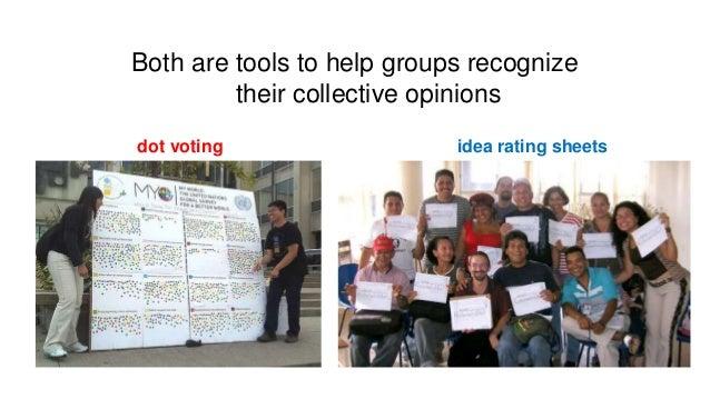 Dot Voting vs. Idea Rating Sheets  Slide 2