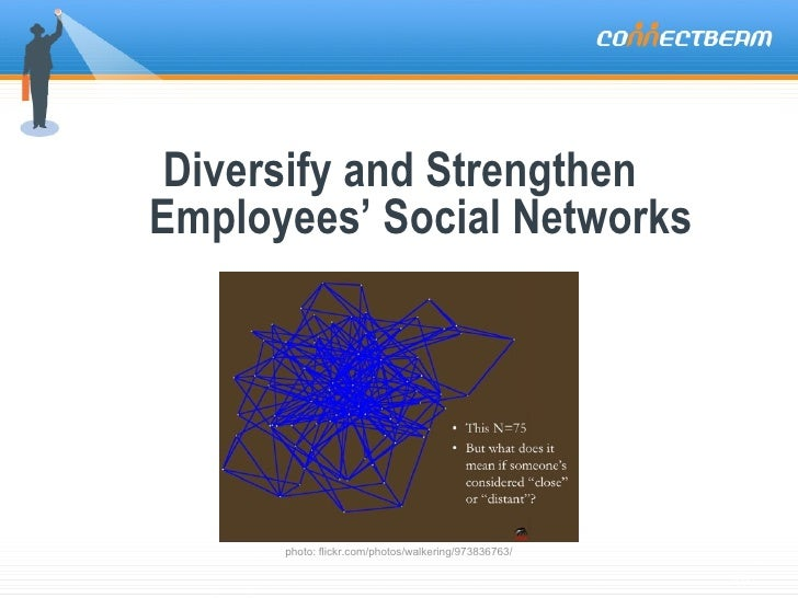 Diversify and Strengthen  Employees' Social Networks photo: flickr.com/photos/walkering/973836763/